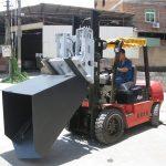 3 tunoj Hyundai Diesel Forklift Cuket Hinged Forket and Bucket