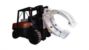 Materialo Manipulado Ekipaj Forklift Paper Roll Clamp